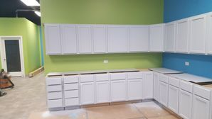Cabinet Painting in Naperville by Painter's Logic