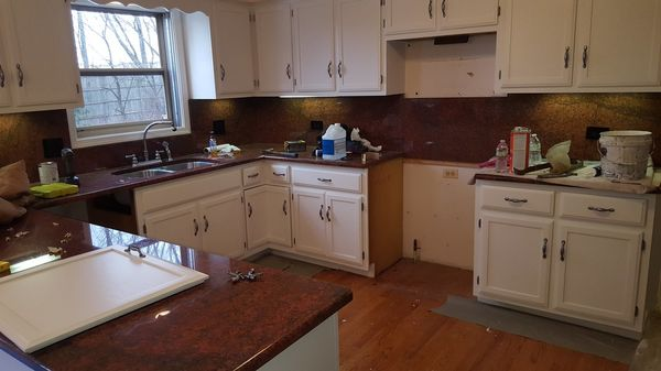 Cabinet Refinishing in Plainfield by Painter's Logic