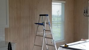 Painting Shiplap Panels White in Naperville, IL Kitchen Nook (1)