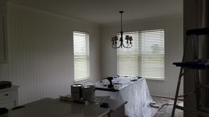 Painting Shiplap Panels White in Naperville, IL Kitchen Nook (2)