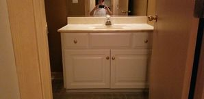 Bathroom Cabinet Painting in Naperville, IL (1)